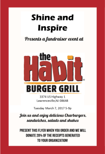 Shine_Habit Burger Fundraiser